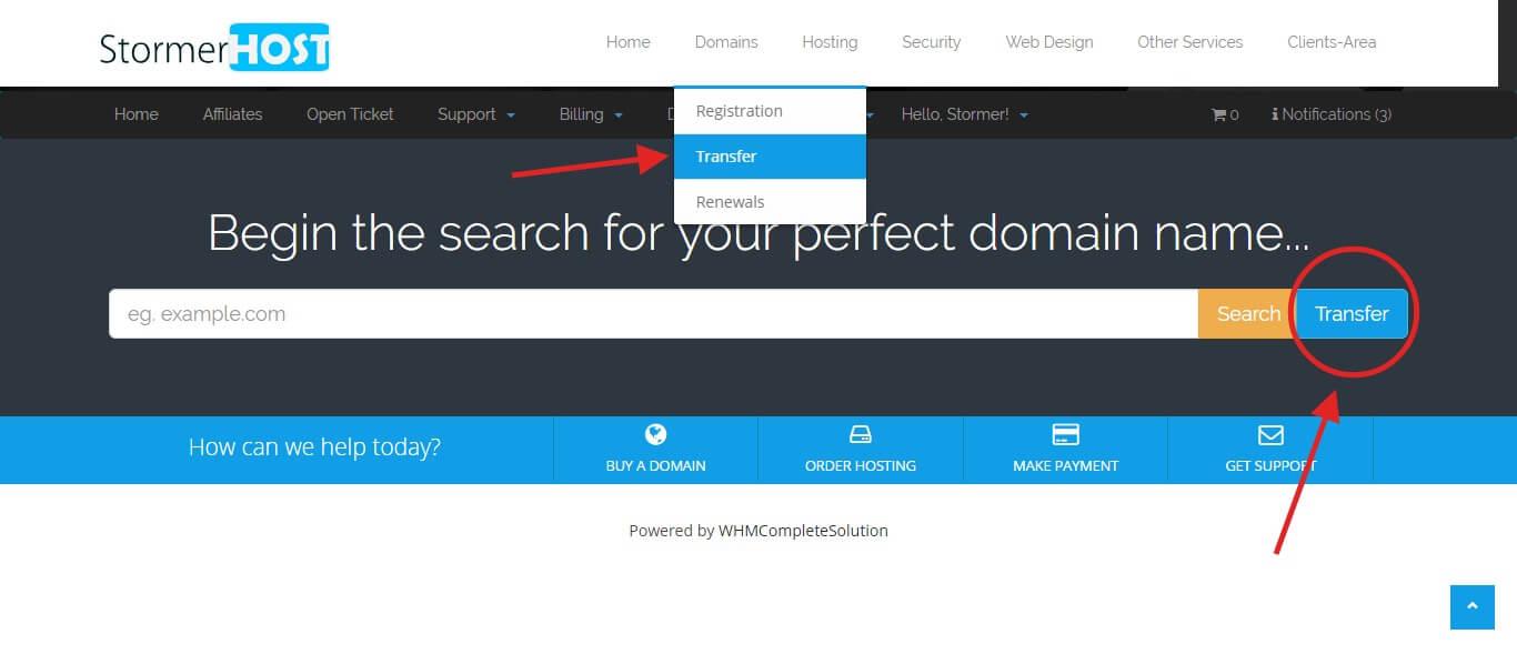 transfer-domain-to-stormerhost