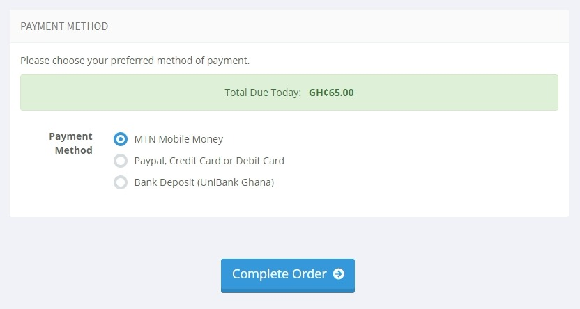 8. Select payment method-MTN-Moblie-Money