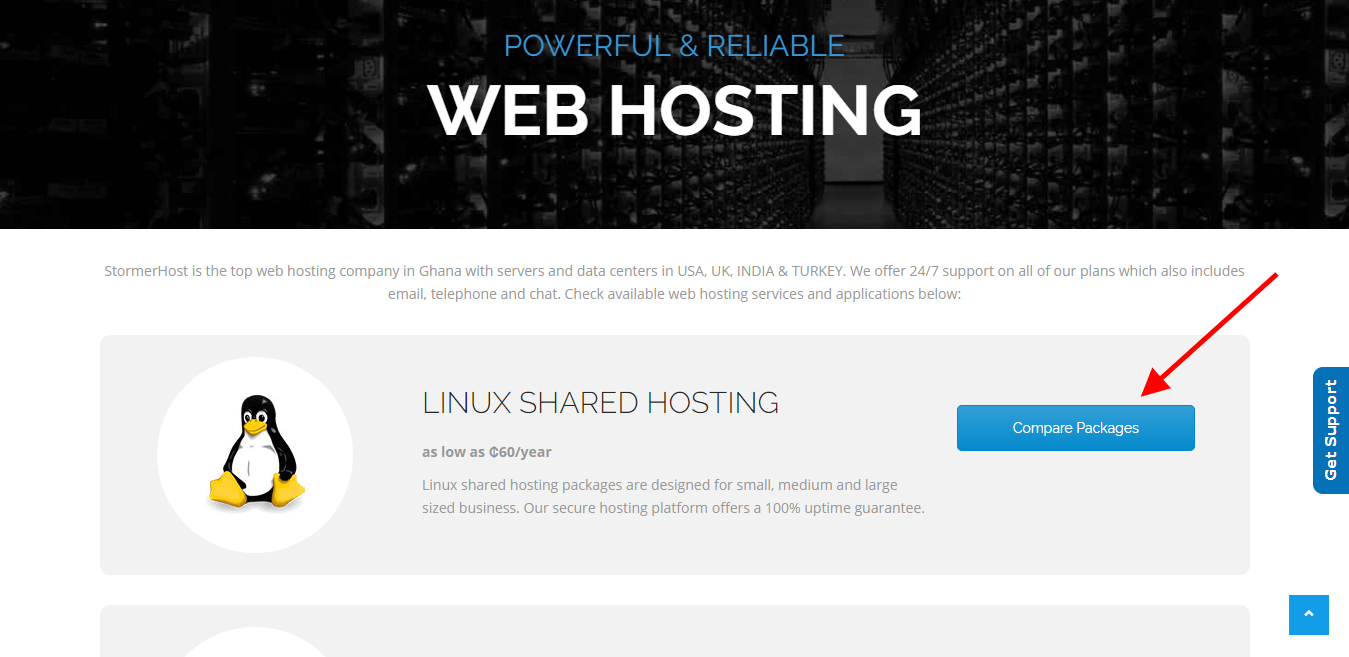 choose a hosting service-linux shared hosting